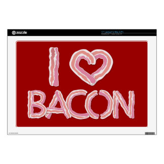 I Love Bacon Laptop Decal