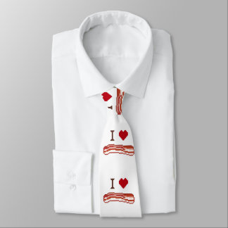 I Love Bacon Neck Tie