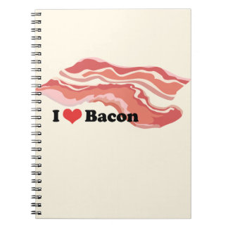 I Love Bacon Photo Notebook (80 Pages B&W)