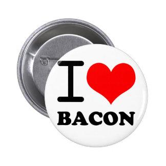 I love bacon pinback button
