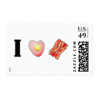 I Love Bacon! Postage Stamp