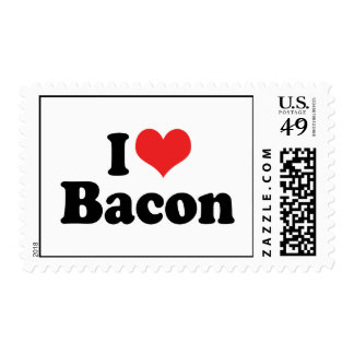I Love Bacon Postage Stamp