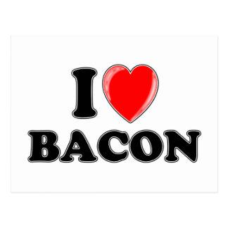 I Love Bacon Postcard