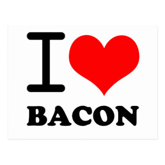 I love bacon postcard