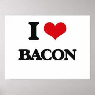 I Love Bacon Poster