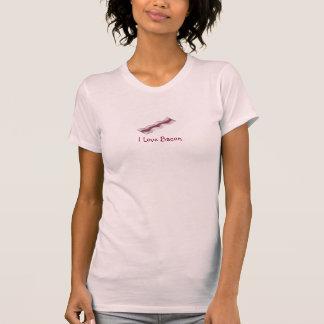 I Love Bacon Sizzling Strip Breakfast Food T-Shirt