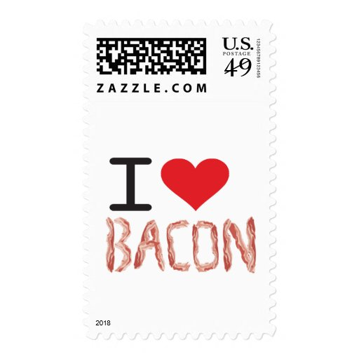 I Love Bacon Stamps