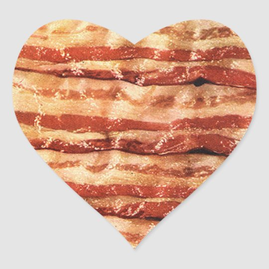 I love bacon stickers heart sticker