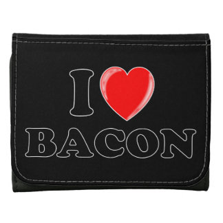 I Love Bacon Trifold Wallet