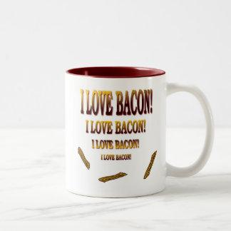 I Love Bacon Two-Tone Coffee Mug