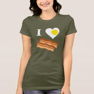 I Love BACON! With Egg Heart shirt