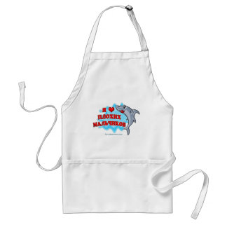 I love Bad Boys in Russian Adult Apron