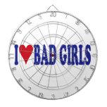 I Love Bad Girls Dart Boards