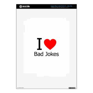 I Love Bad Jokes Decals For iPad 3