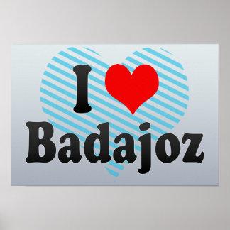 I Love Badajoz, Spain Poster