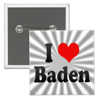 I Love Baden, Austria Pins
