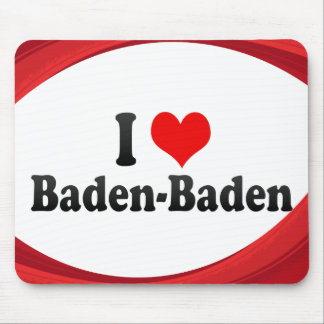 I Love Baden-Baden, Germany Mouse Pad