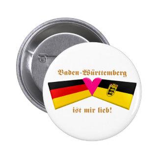 I Love Baden-Wuerttemberg ist mir lieb Pinback Button