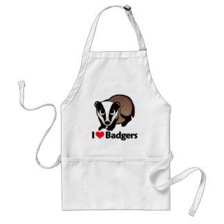 I Love Badgers Adult Apron