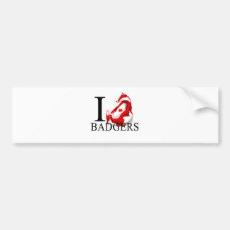 I Love Badgers Bumper Stickers
