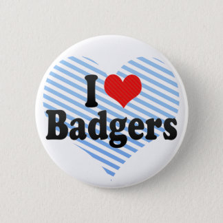 I Love Badgers Button