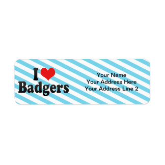 I Love Badgers Label