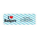 I Love Badgers Return Address Labels