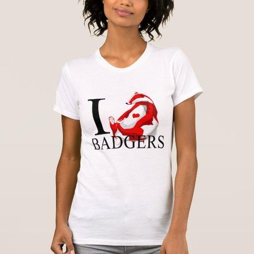 I Love Badgers T-shirts