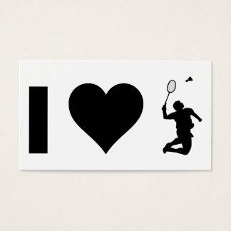 I Love Badminton Business Card