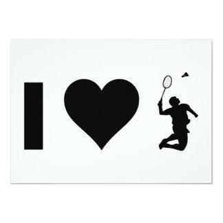 I Love Badminton Card