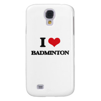 I Love Badminton Galaxy S4 Cases
