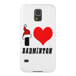 I Love Badminton Design Galaxy S5 Cover