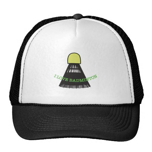 I Love Badminton Hat