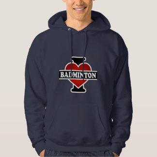 I Love Badminton Hoodie