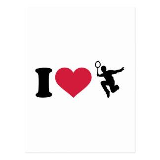 I love Badminton Player Postcard