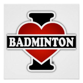 I Love Badminton Poster