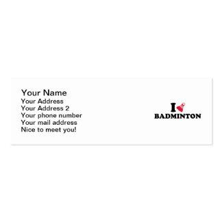 I love Badminton Shuttlecock Mini Business Card