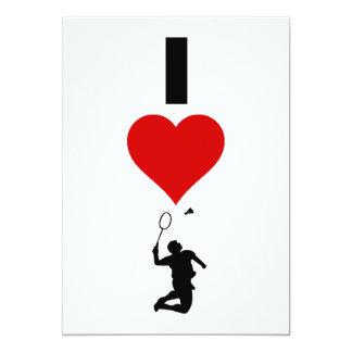 I Love Badminton (Vertical) Card