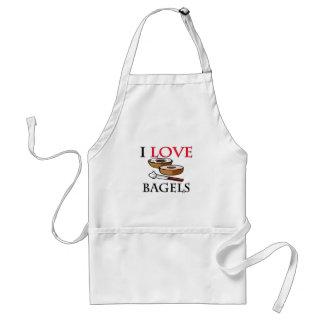 I Love Bagels Adult Apron