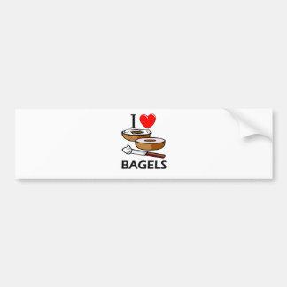 I Love Bagels Car Bumper Sticker
