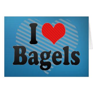 I Love Bagels Greeting Card