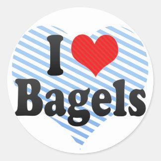 I Love Bagels Classic Round Sticker