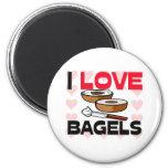 I Love Bagels Fridge Magnet