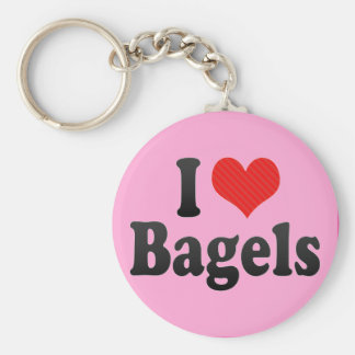 I Love Bagels Keychains