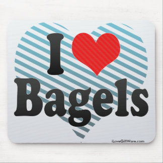 I Love Bagels Mouse Pad