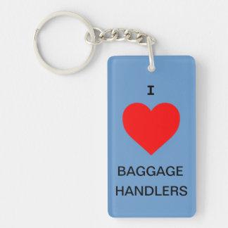I love baggage handlers key chain luggage tag