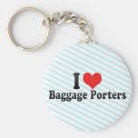I Love Baggage Porters Key Chains
