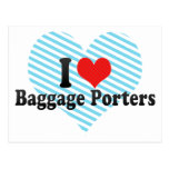 I Love Baggage Porters Postcard