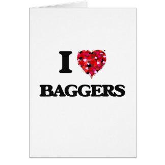 I love Baggers Greeting Card