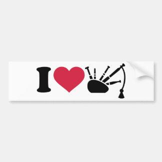 I love bagpipe bumper sticker